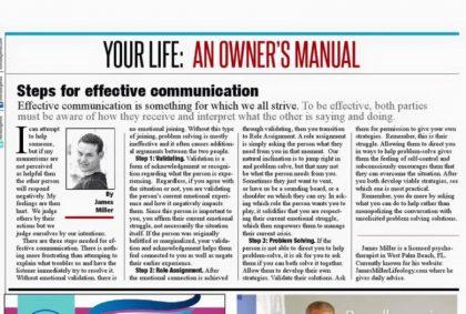 Steps for effective communication