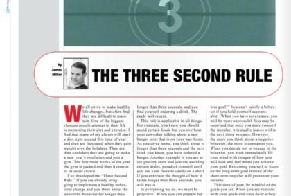 Three second rule